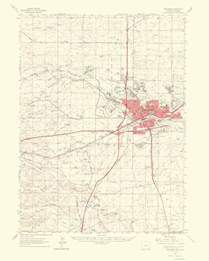 Amazon.com: Topographical Map - Cheyenne Wyoming, Colorado Quad ...
