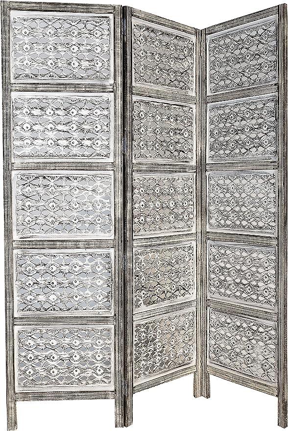 Marrakech Accessoires – Panel de Madera Lakshmi 150 x 180 cm de Altura en Blanco | Indio