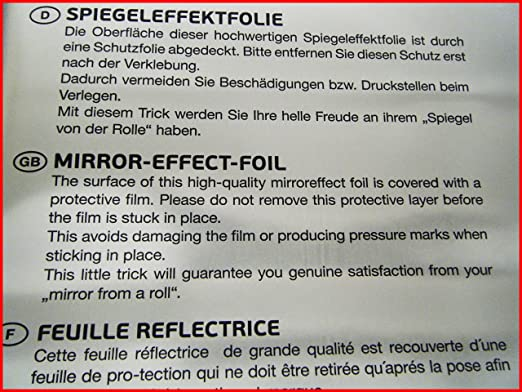 XZWJ Miroir Autocollant Rouleau Installation Facile Wall Foil Mirror D/écoratif Wall Sticker Autocollant Autocollant Home Decor 60 * 100CM Aucun Per/çage Requis