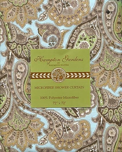 Amazon.com: Raymond Waites Hampton Gardens Blue & Tan Paisley Floral ...