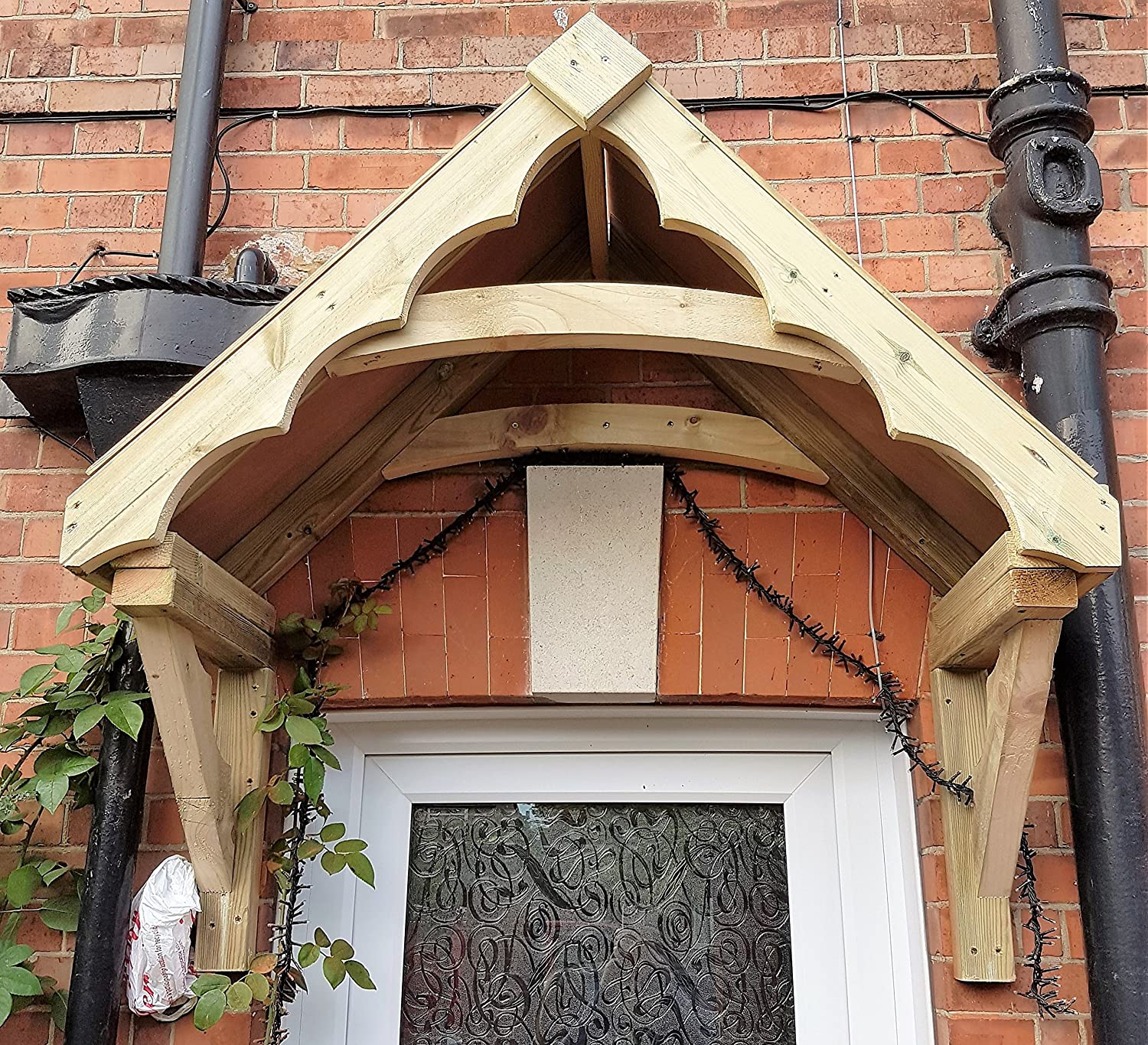 Timber Cottage Style Porch Canopy & Richard Burbidge LC001 1200 mm Apex Porch Canopy: Amazon.co.uk ...