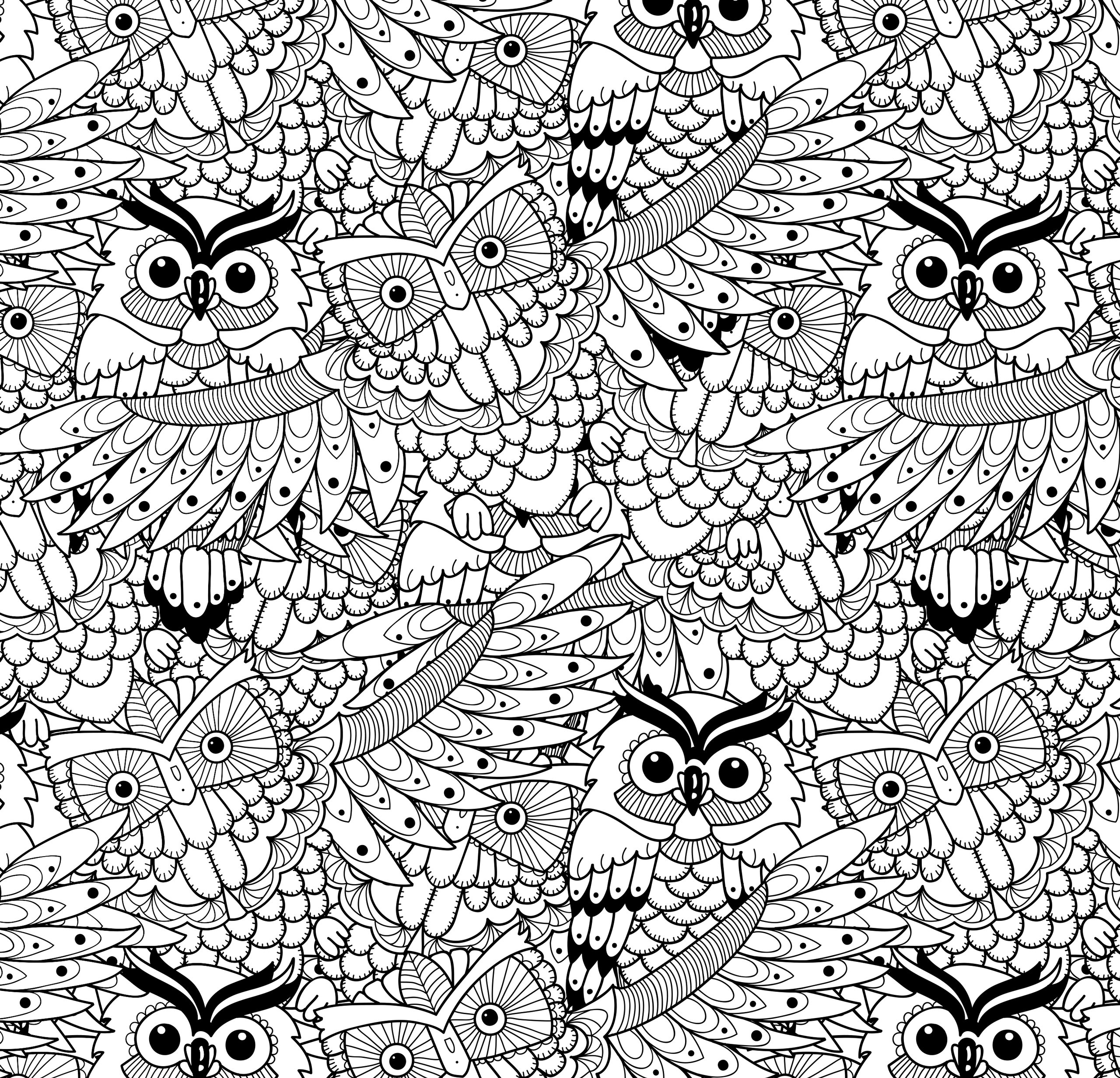 Amazon.com: Owl Town Adult Coloring Book (31 stress-relieving ...