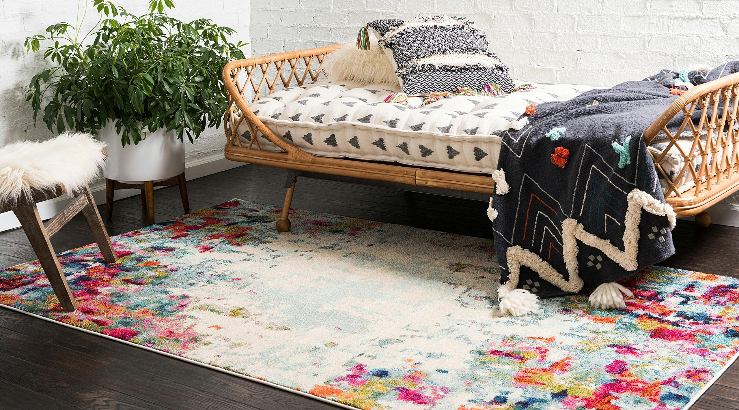 Modern Abstract Colorful Multi Area Rug