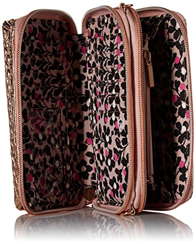 Vera Bradley Iconic RFID All in One Crossbody, Foiled Cotton, Rose Gold  Shimmer  Amazon.com.au  Fashion a0049617b0