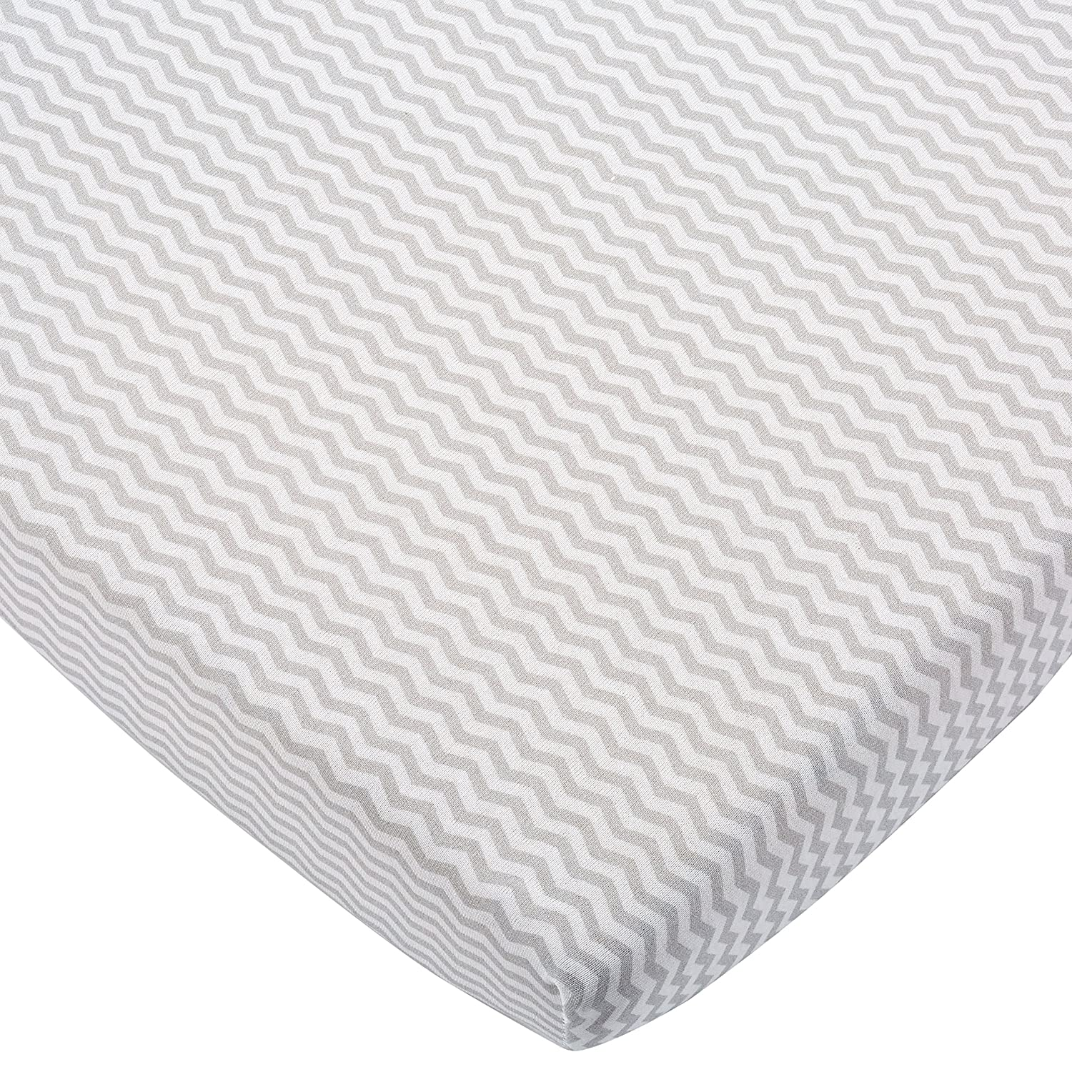 Bébé-Jou 302931 Changing Mat Jersey Cover – Chevron, Grey