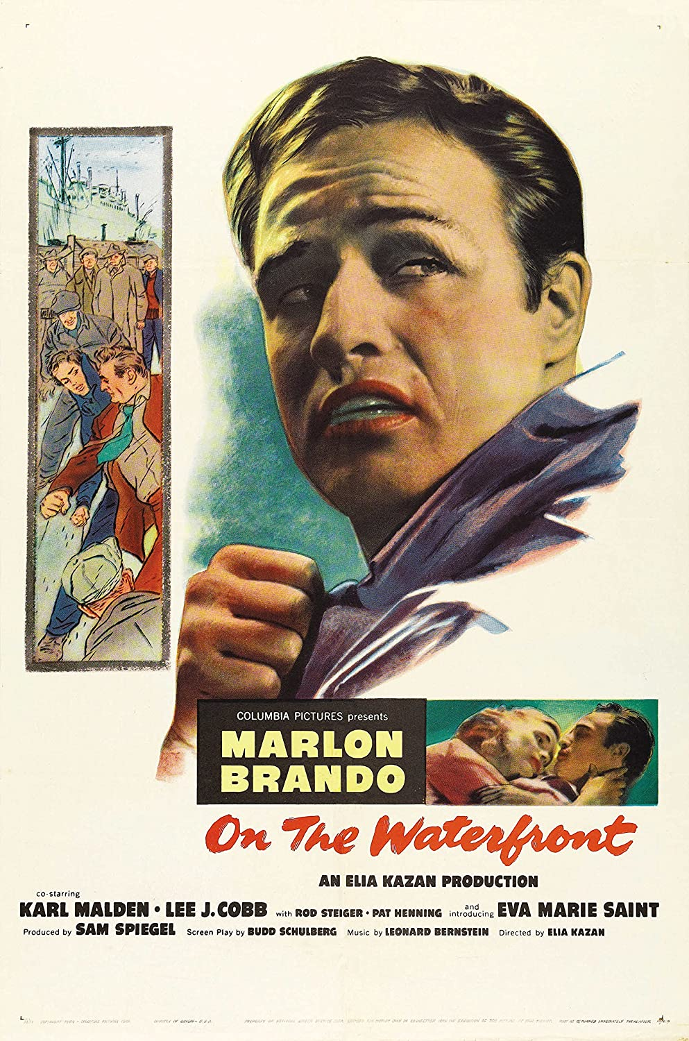 Movie Poster ON The Waterfront Print Approx Size 11X8 inches