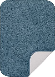 "product image for Maples Rugs Softec Non Slip Washable & Quick Dry Soft Bathroom Rugs [Made in USA], 17"" x 24"", Light Blue"