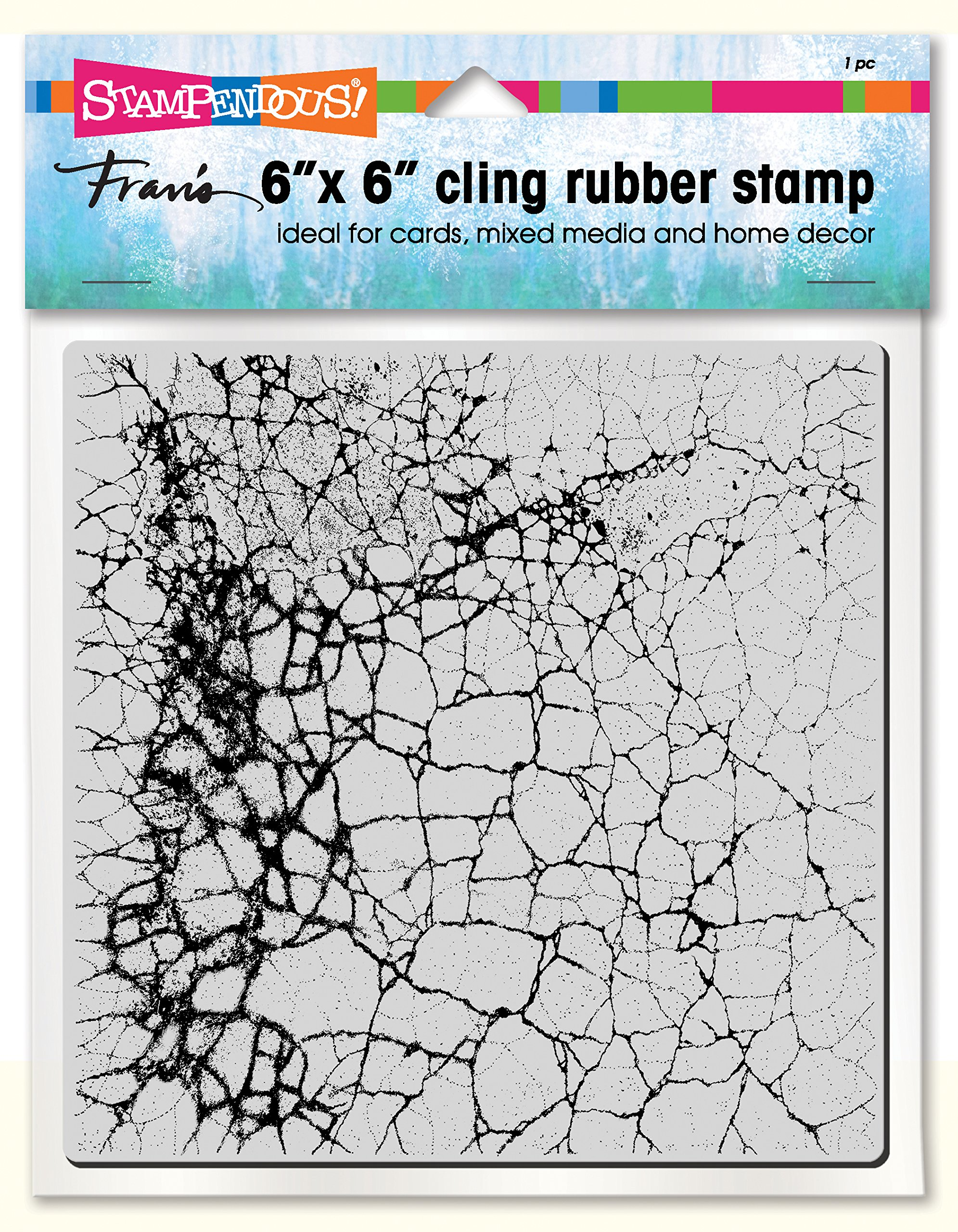 Rubber STAMPENDOUS CLING STAMPS//STENCIL GRUNGE SCR