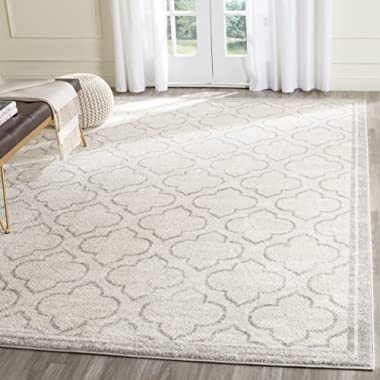Safavieh Amherst Collection AMT412E Ivory and Light Grey Indoor/ Outdoor Area Rug (8' x 10')