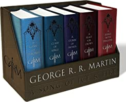 George R. R. Martin's A Game of Thrones Leather-Cloth Boxed Set (Song of Ice and Fire Series): A Game of Thrones, A...