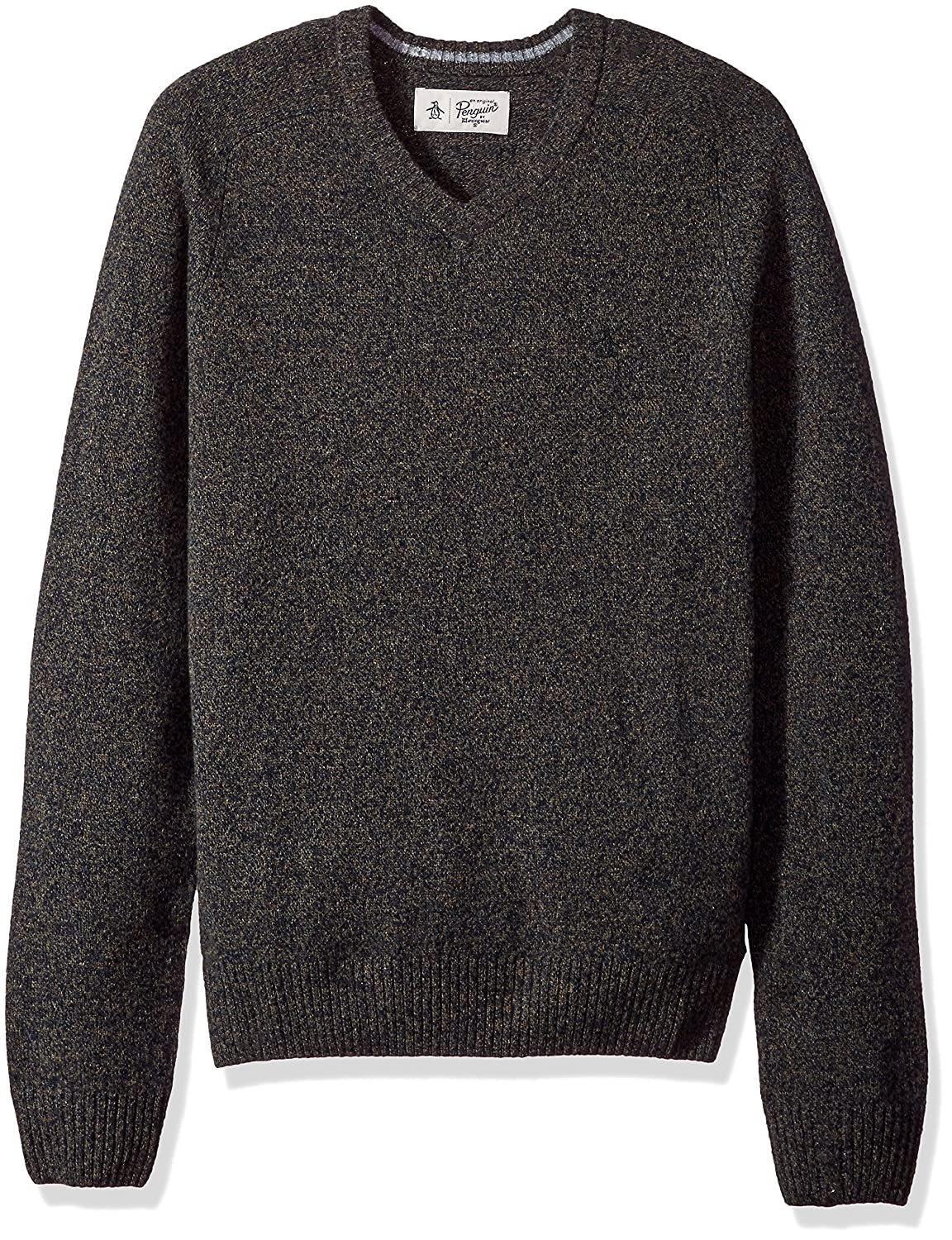 Original Penguin Men's P55 100% Lambswool V-Neck Sweater OPGF7098