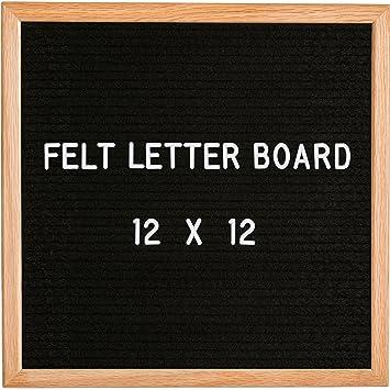 modern retro black felt letter board 12x12 perfect home dcor teacher