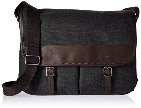 02166a342404 Fossil Men s Buckner Leather Trim Messenger Bag
