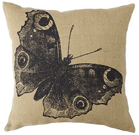 Park Hill 16 Decorative Country Feed Sack Burlap Pillow Butterfly
