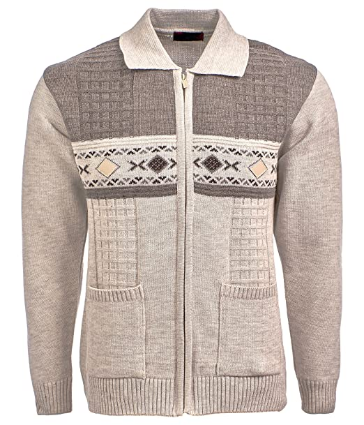 a47d9af4a Mens Knitted Cardigan Classic Style Zipper cardigan With Collar ...