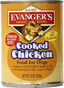 Evangers 12-Pack Natural Classic Cooked Chicken Supplement for Dogs, 13-Ounce
