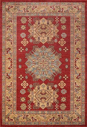 Momeni Ghazni Area Rug, 7 10 x 9 10 , RED