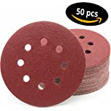 Lot de 50 disques abrasifs Ø 125 mm Grain 40 pour ponceuse excentrique de 8 trous
