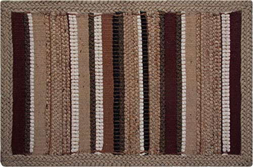 Better Trends Mambosa Natural Jute Hand-Woven Area Rug, 3 by 5-Feet, Brown Natural