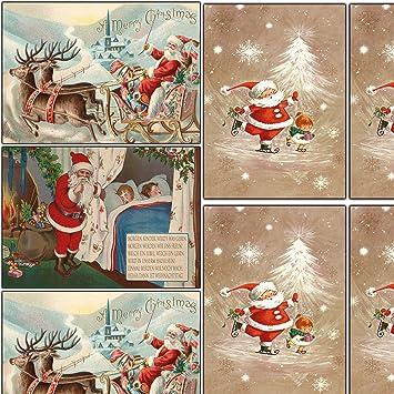 Nostalgische Weihnachtskarten Kostenlos.Nostalgie Weihnachtskarten Set Retro Vintage Grußkarten Weihnachten