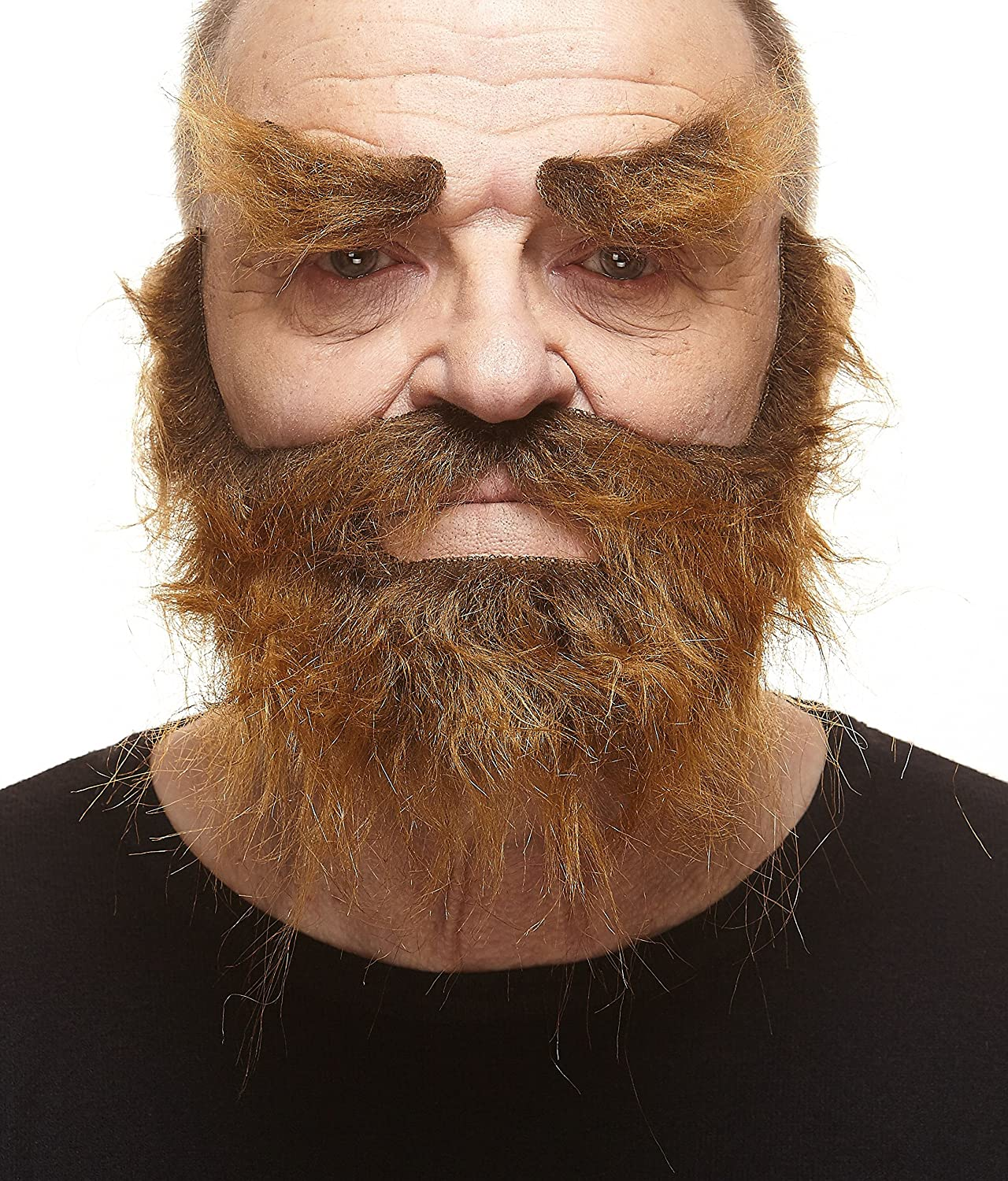 High quality Realistic Traper fake beard, mustache and eyebrows, self adhesive Balionu salis