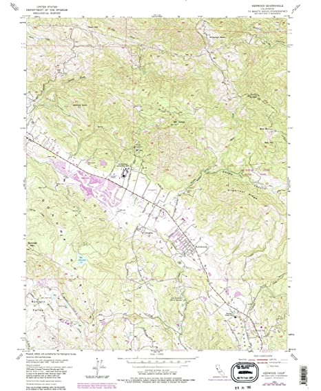 Amazon Com Yellowmaps Kenwood Ca Topo Map 1 24000 Scale 7 5 X