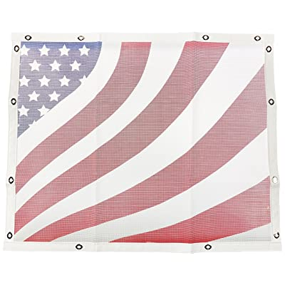 Belmor BS-1988AF1-1 White Patriotic Bug Screen Truck Grille Cover for 1986-2007 Peterbilt 357, 375, 377, 378, 379 (Short Nose): Automotive