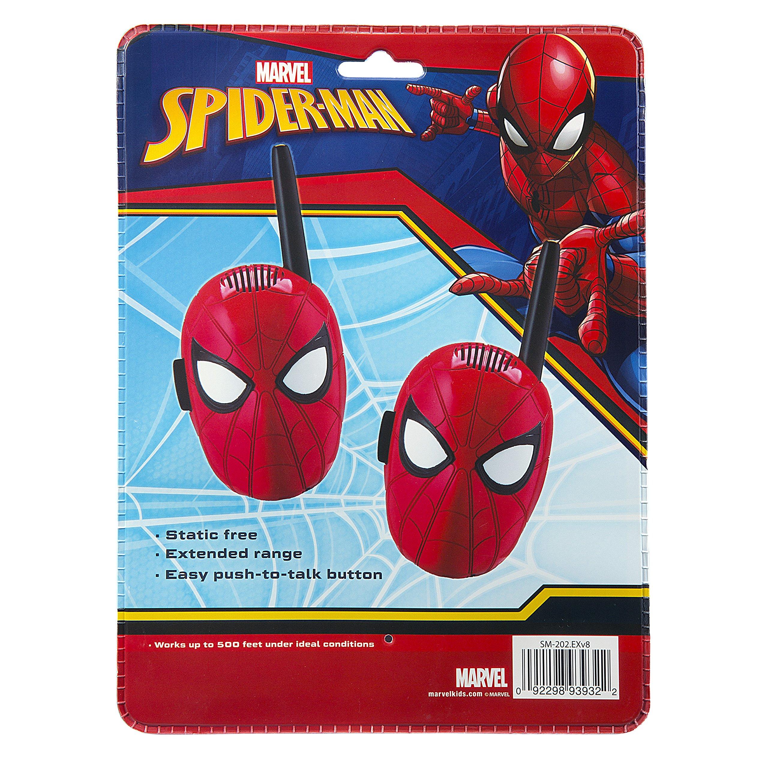 Spiderman Walkie Talkies for Kids Static Free Extended Range Kid Friendly Easy to Use 2 Way Walkie Talkies by eKids (Image #5)