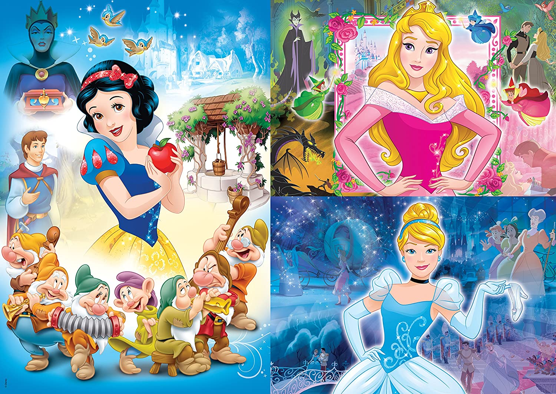 Set de Puzzles 3x48 Piezas Disney Princesas Clementoni