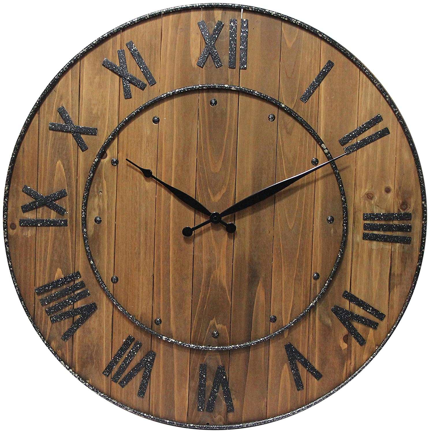 Amazon infinity instruments wine barrel 24 in wall clock amazon infinity instruments wine barrel 24 in wall clock home kitchen amipublicfo Gallery