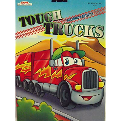 Kappa Tough Trucks Coloring and Activity Book ~96 pg: Toys & Games