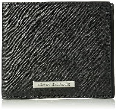 a3ec56212e2e Amazon.com  Armani Exchange Men s Saffiano Wallet  Clothing