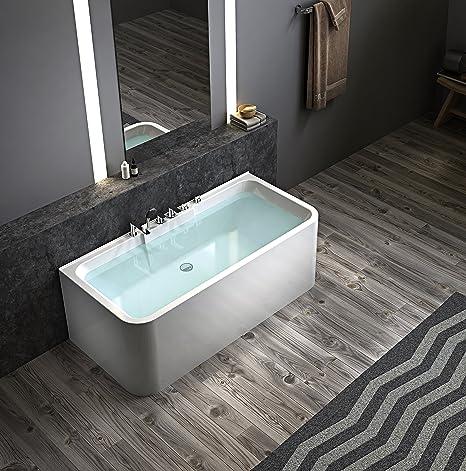 Turbo Exclusive freistehende Badewanne an 3 Seiten geschlossen Acryl mit UM71