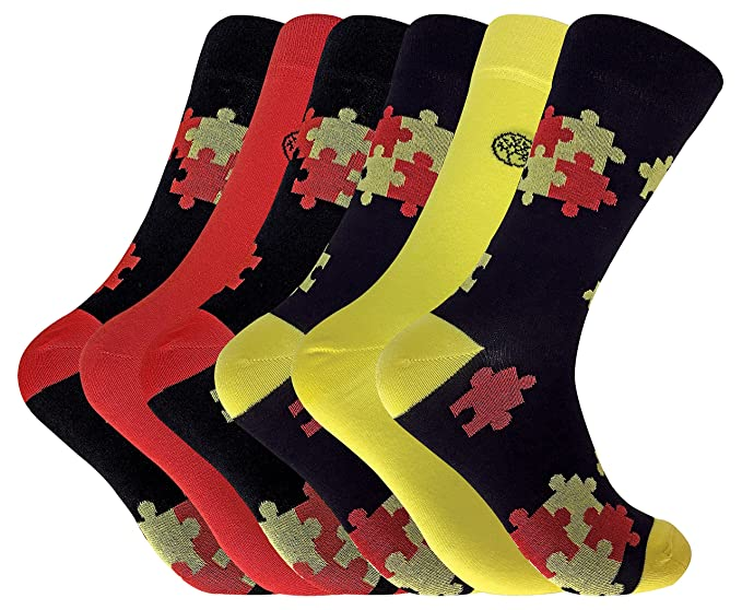 Calcetines de vestir antibacterianos de bambú con dibujos coloridos, para hombre, 6 pares