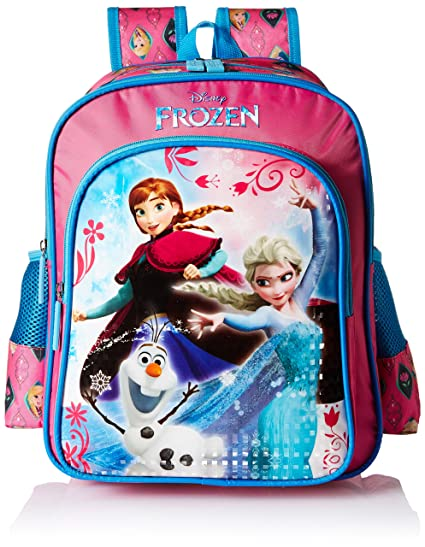 4f462cbb2aa Frozen Trio Pink and Blue School Bag for Children of Age Group 3 - 5 ...