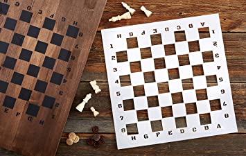 amazon com large checkerboard stencil for painting on wood