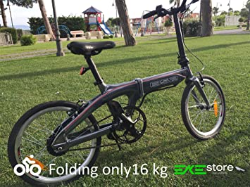 Bicicleta eléctrica plegable B 52 – 16 kg Super Ligera de Aluminio Che Puoi tanto como
