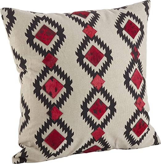 SARO LIFESTYLE Cowhide Desert Navajo Design Down Filled Throw Pillow 12 x 20 Multicolor 1345.M1220B