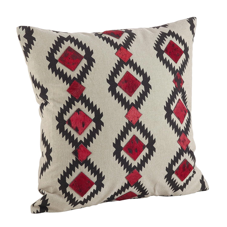 1246.M18S 18 Multicolor SARO LIFESTYLE Cowhide Desert Navajo Design Down Filled Throw Pillow