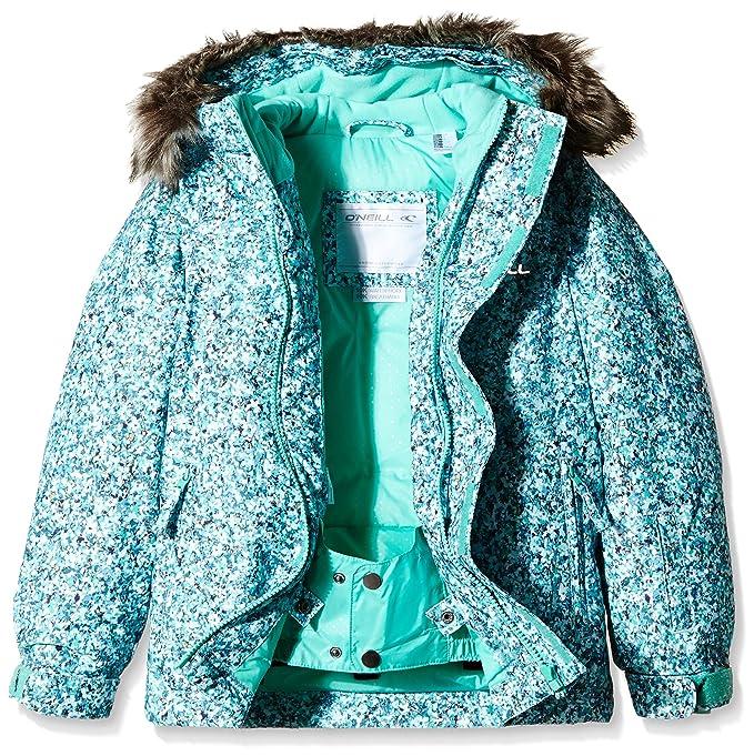 ONeill Girl s Radiant - Cazadora de nieve para mujer, chaqueta, niña, color Blue AOP/Black, tamaño 116 cm: Amazon.es: Deportes y aire libre