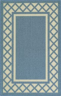 product image for Maples Rugs Bella Kitchen Rugs Non Skid Accent Area Carpet [Made in USA], 2'6 x 3'10, Blue