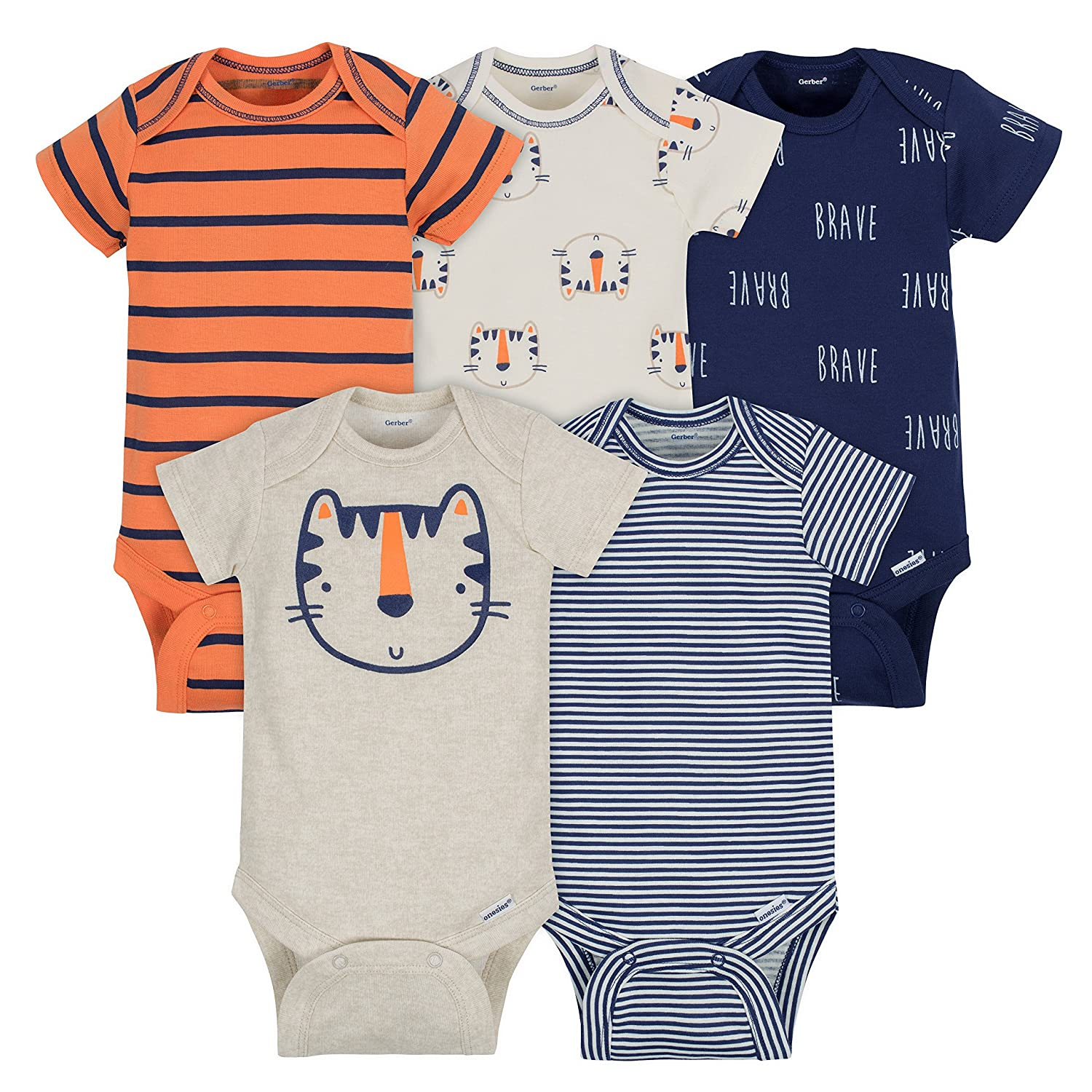 GerberユニセックスベビーOnesies (Pack 0 of 5 ) Months|Tigers B07FJZYVNG 3 Tigers 0 - 3 Months 0 - 3 Months|Tigers, ミサキマチ:9891e14e --- itxassou.fr