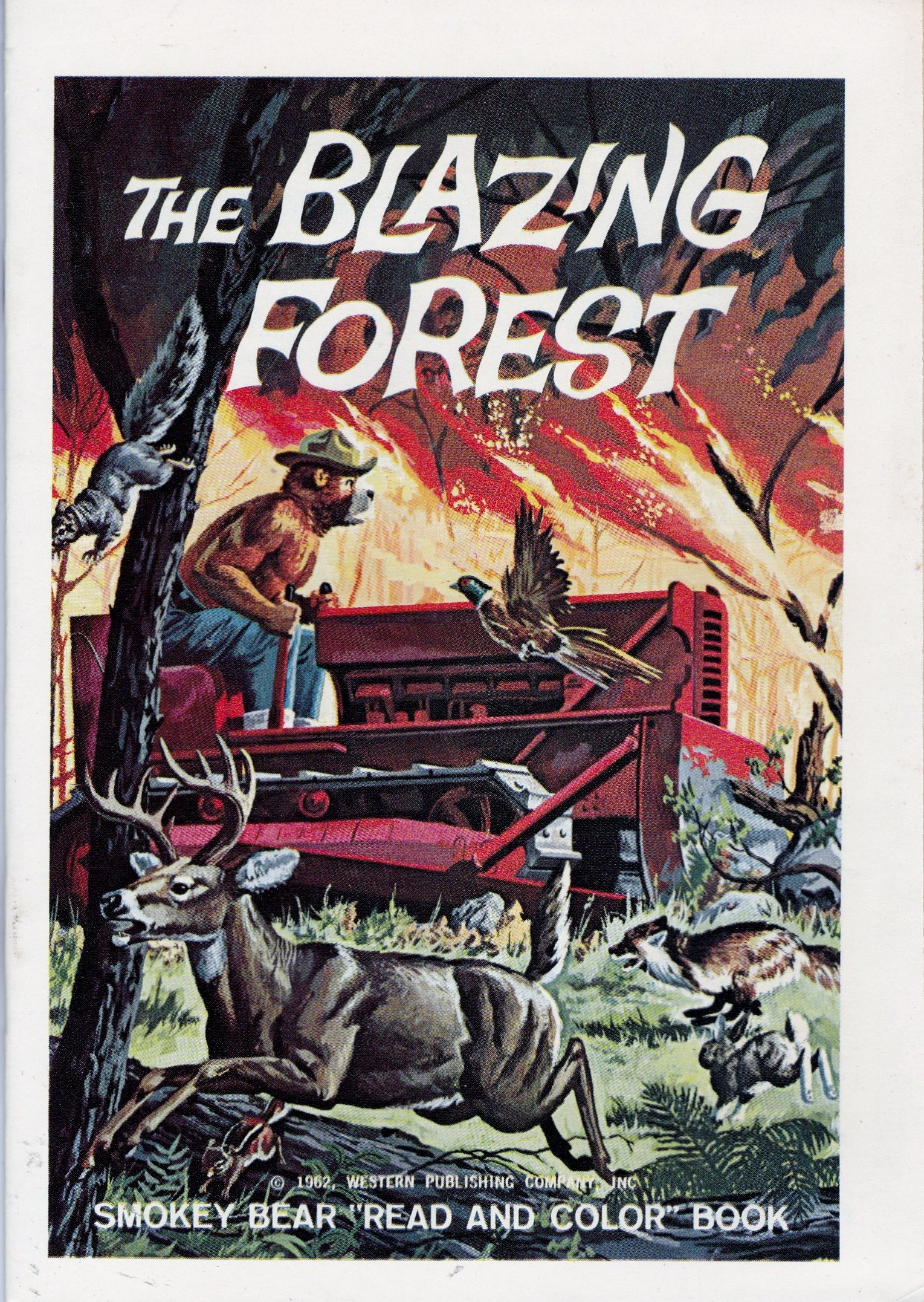 The Blazing Forest Smokey Bear Read And Color Book Western Publishing Company Amazon Com Books