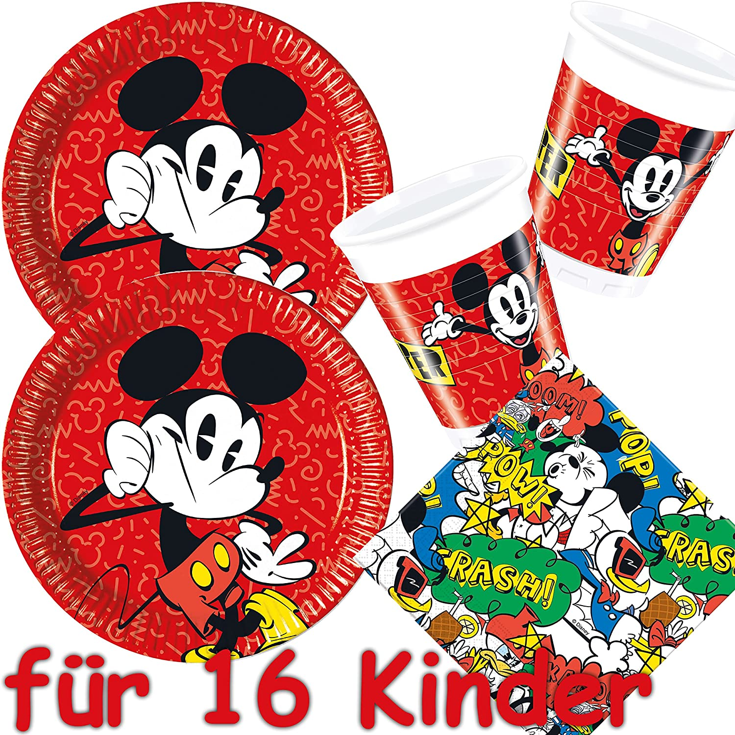 53 piezas Party * Mickey Mouse - Super Cool * con 16 platos ...