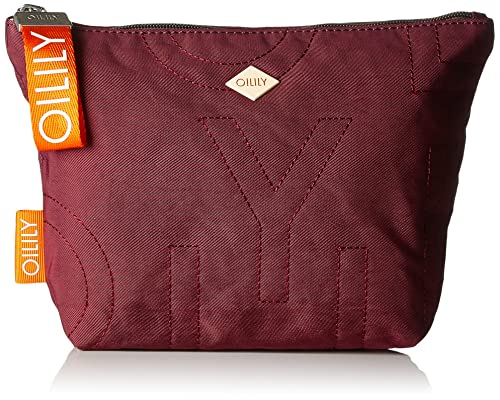 Oilily - Spell Cosmeticpouch Mhz 1, Carteras de mano Mujer, Rot (Burgundy)