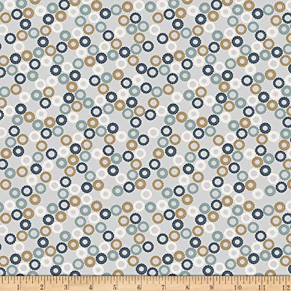 cd5676cb995 Amazon.com: Stof Fabrics of Denmark Avalana Jersey Knit Gears Fabric ...