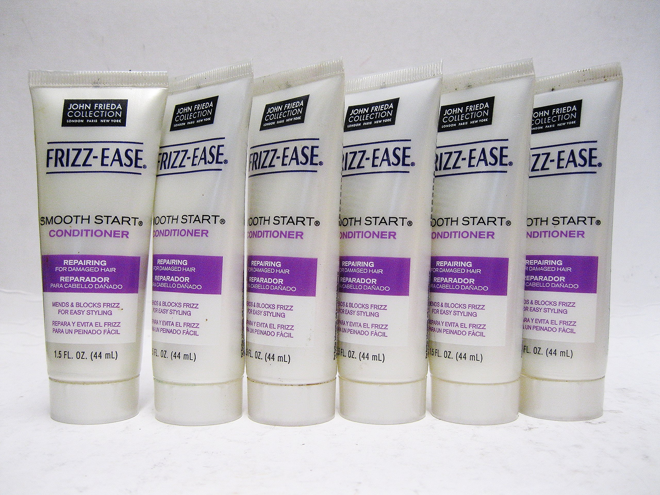 John Frieda Collection Frizz Ease Smooth Start Conditioner 1.5 Fl Oz Travel Size (pack of 6)