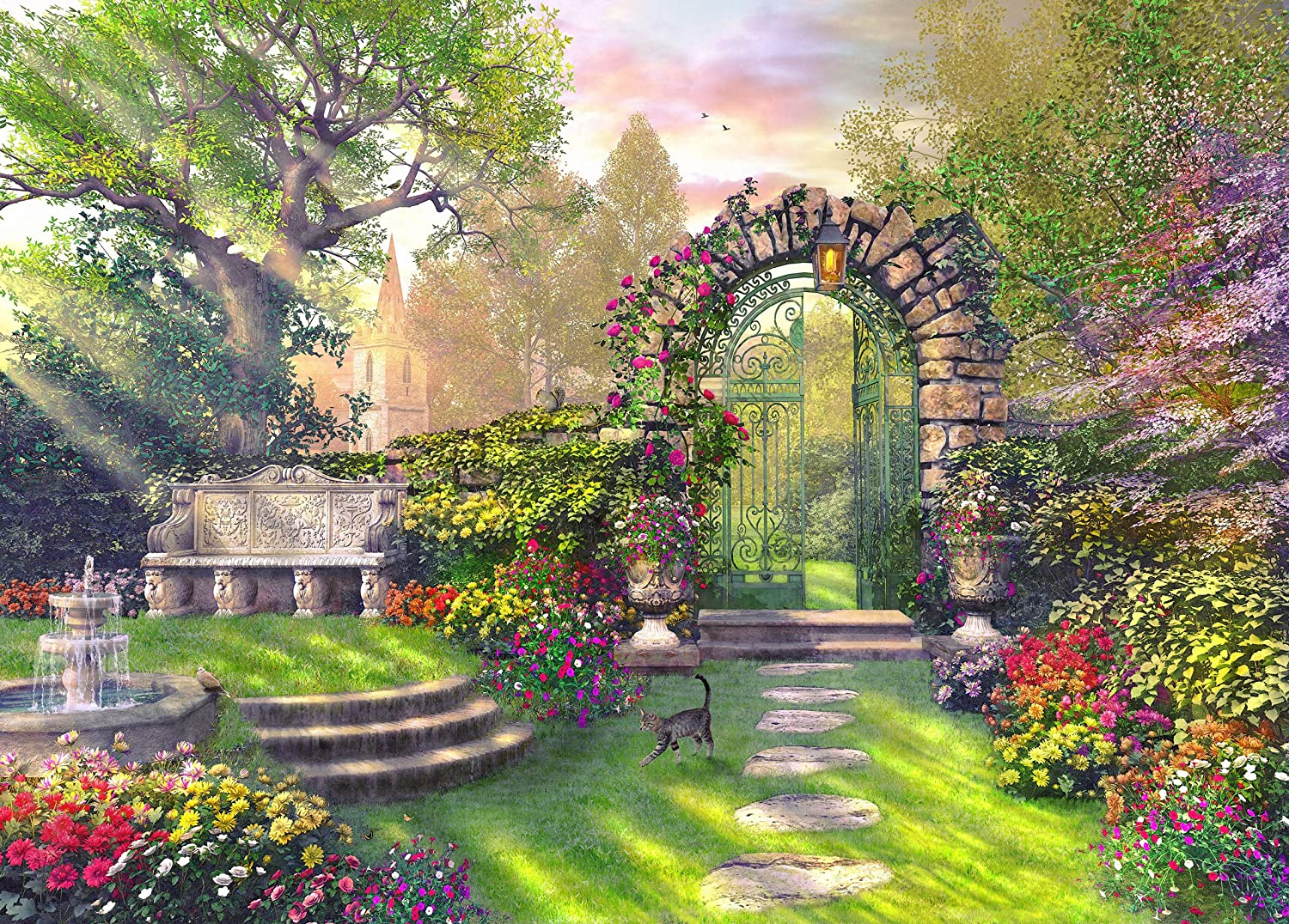 Chamberart Gate of The Garden 500 Piece Jigsaw Puzzle [Pouch Included]