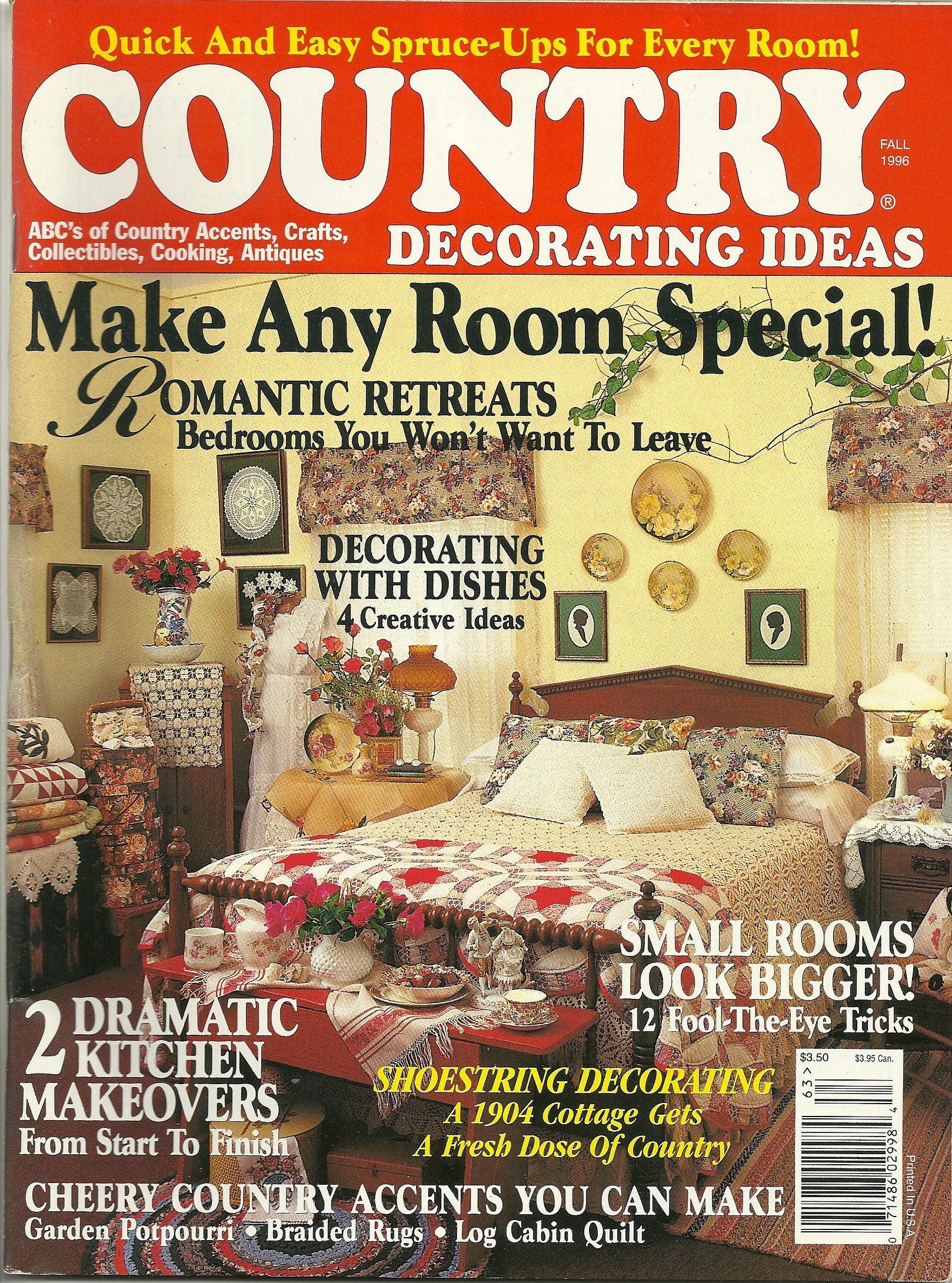 Country Decorating Ideas Magazine - Fall 1996: Amazon.com: Books