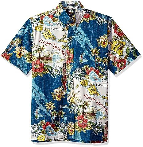 29a3e655d4eb Reyn Spooner Men's Status Oceanic Spooner Kloth Classic Fit Hawaiian Shirt
